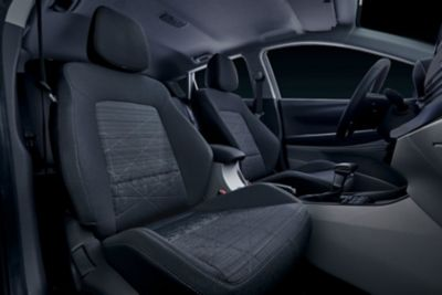 The front seats of the all-new Hyundai BAYON.