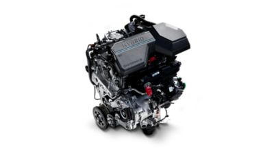 The state-of-the-art hybrid engine in the the new Hyundai SANTA FE Hybrid 7 seat SUV.